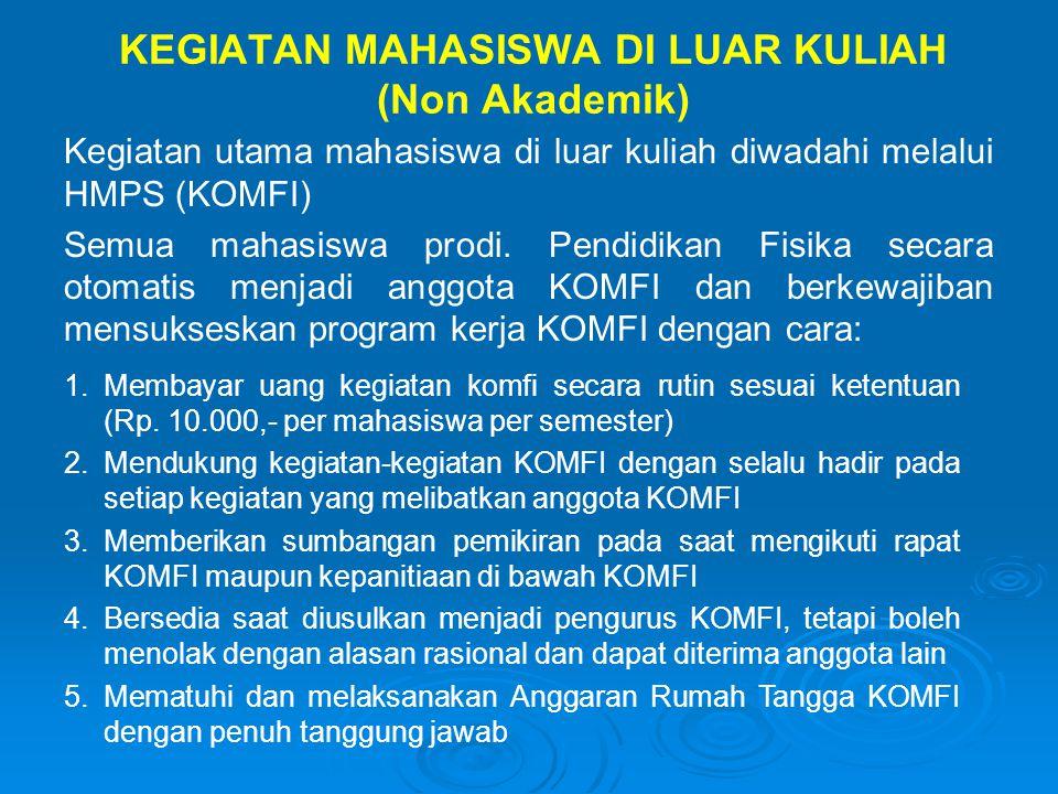 KEGIATAN MAHASISWA DI LUAR KULIAH (Non Akademik)
