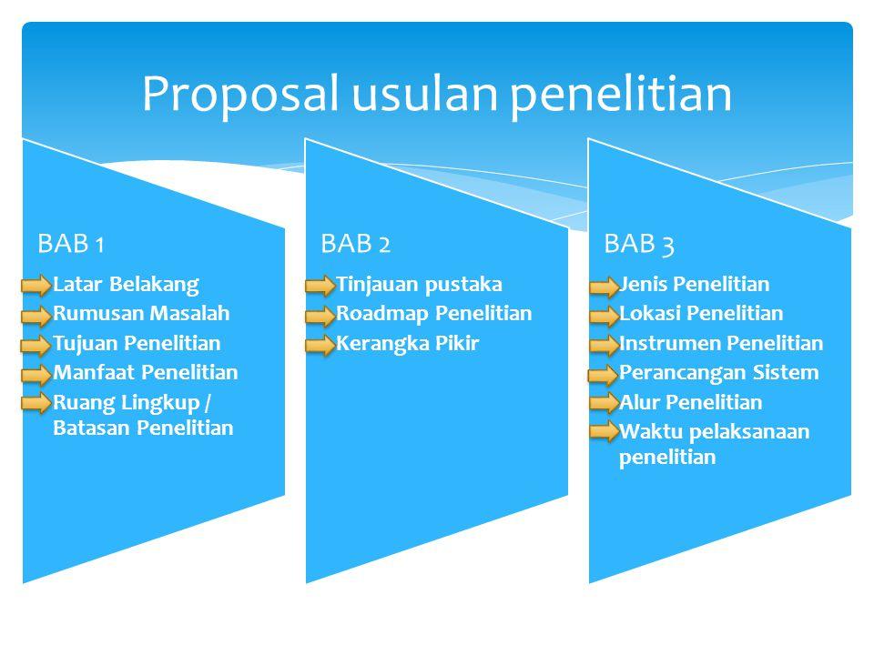 Proposal usulan penelitian