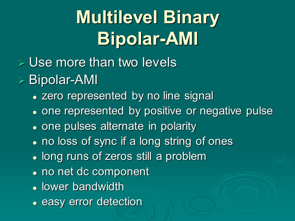 Multilevel Binary Bipolar-AMI