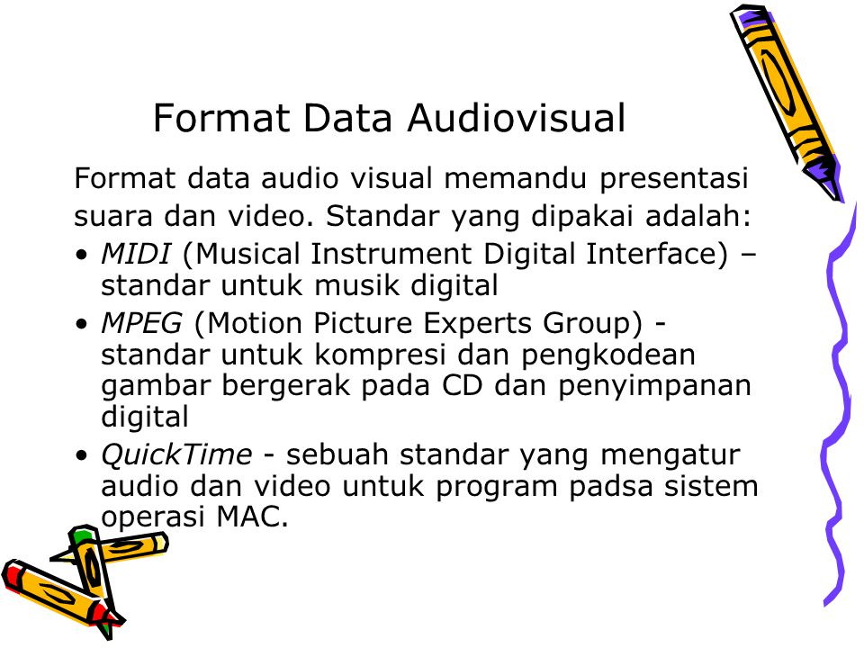 Format Data Audiovisual
