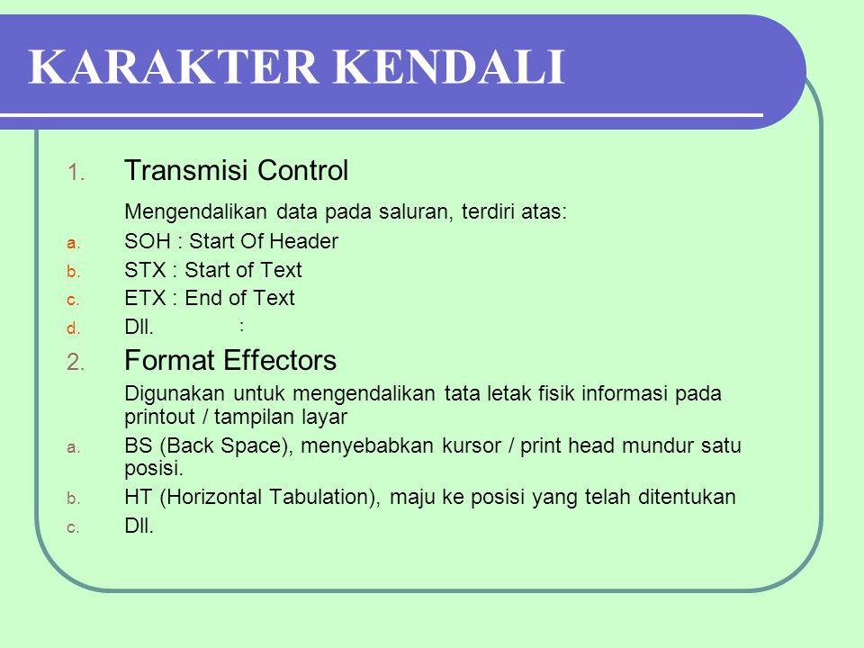 KARAKTER KENDALI Transmisi Control