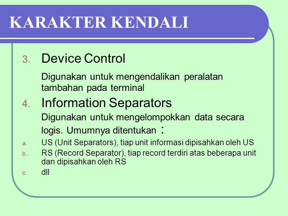 KARAKTER KENDALI Device Control