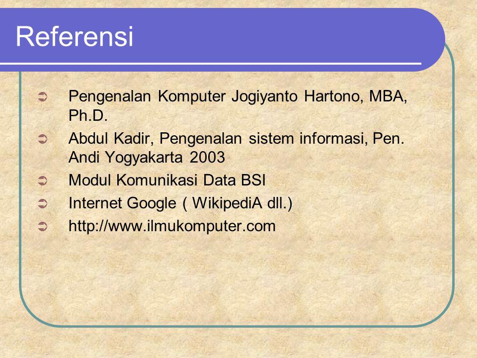Referensi Pengenalan Komputer Jogiyanto Hartono, MBA, Ph.D.