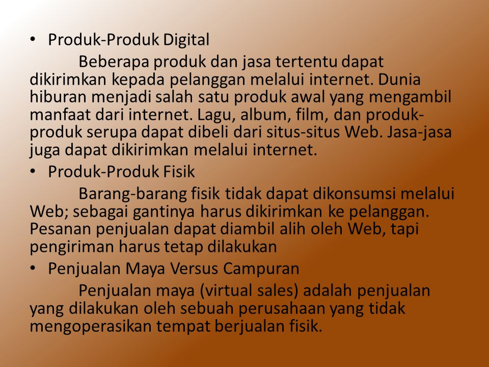Produk-Produk Digital