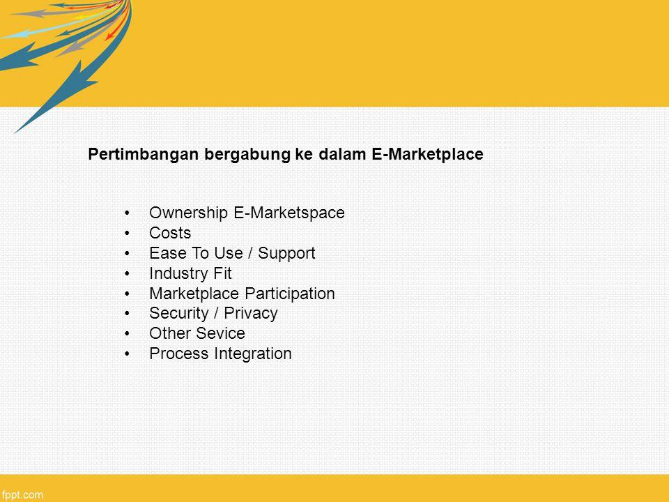 Pertimbangan bergabung ke dalam E-Marketplace