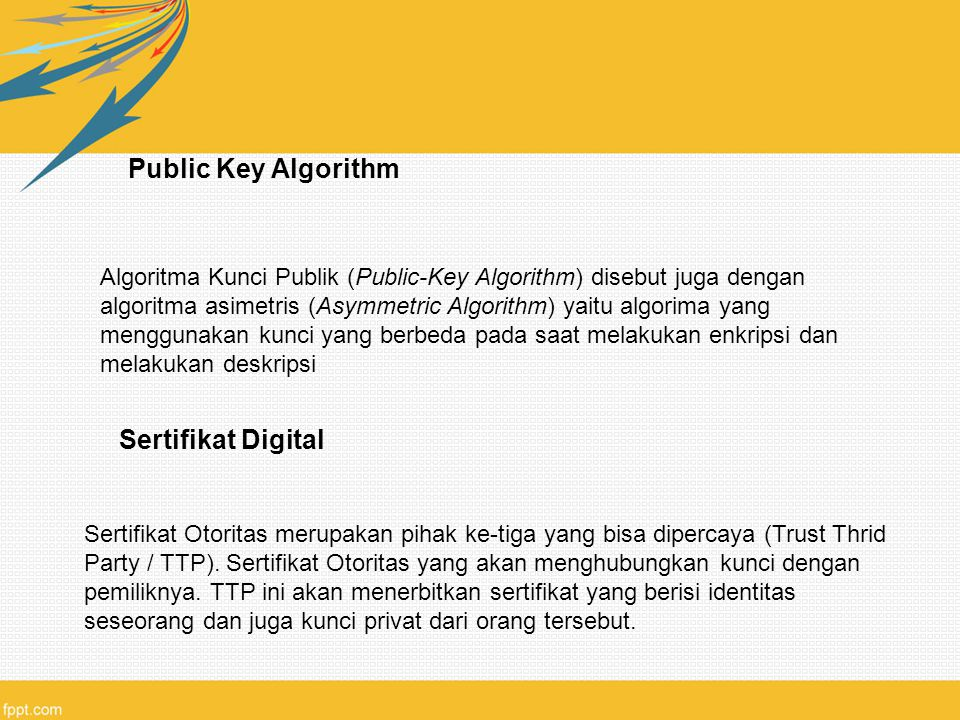 Public Key Algorithm Sertifikat Digital