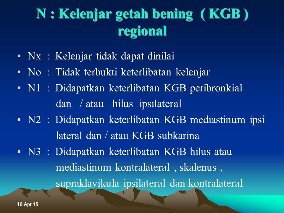 N : Kelenjar getah bening ( KGB ) regional