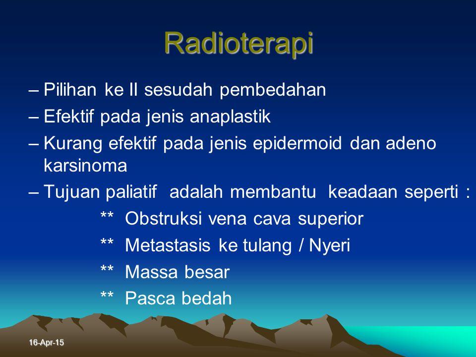 Radioterapi Pilihan ke II sesudah pembedahan