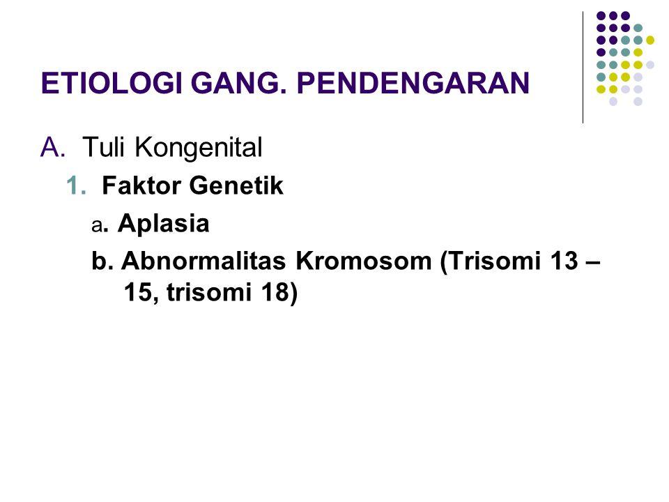 ETIOLOGI GANG. PENDENGARAN