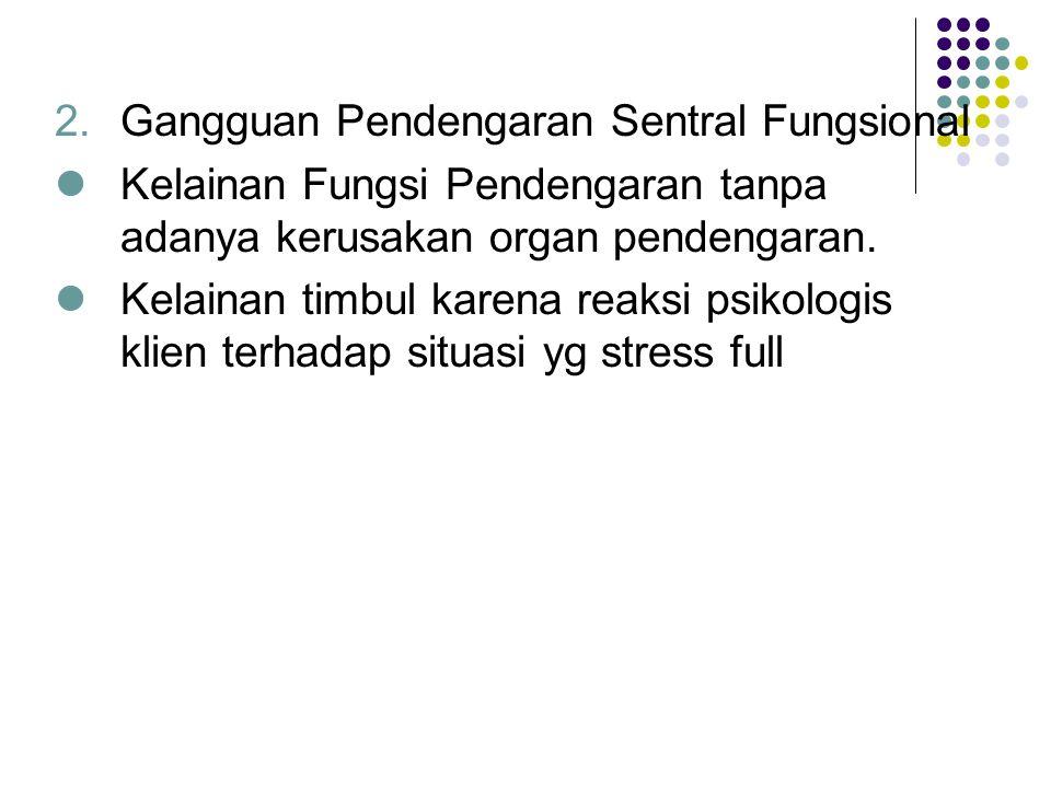 Gangguan Pendengaran Sentral Fungsional