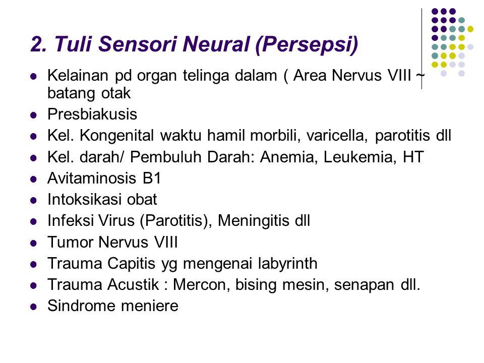 2. Tuli Sensori Neural (Persepsi)
