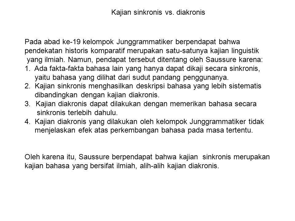 Kajian sinkronis vs. diakronis