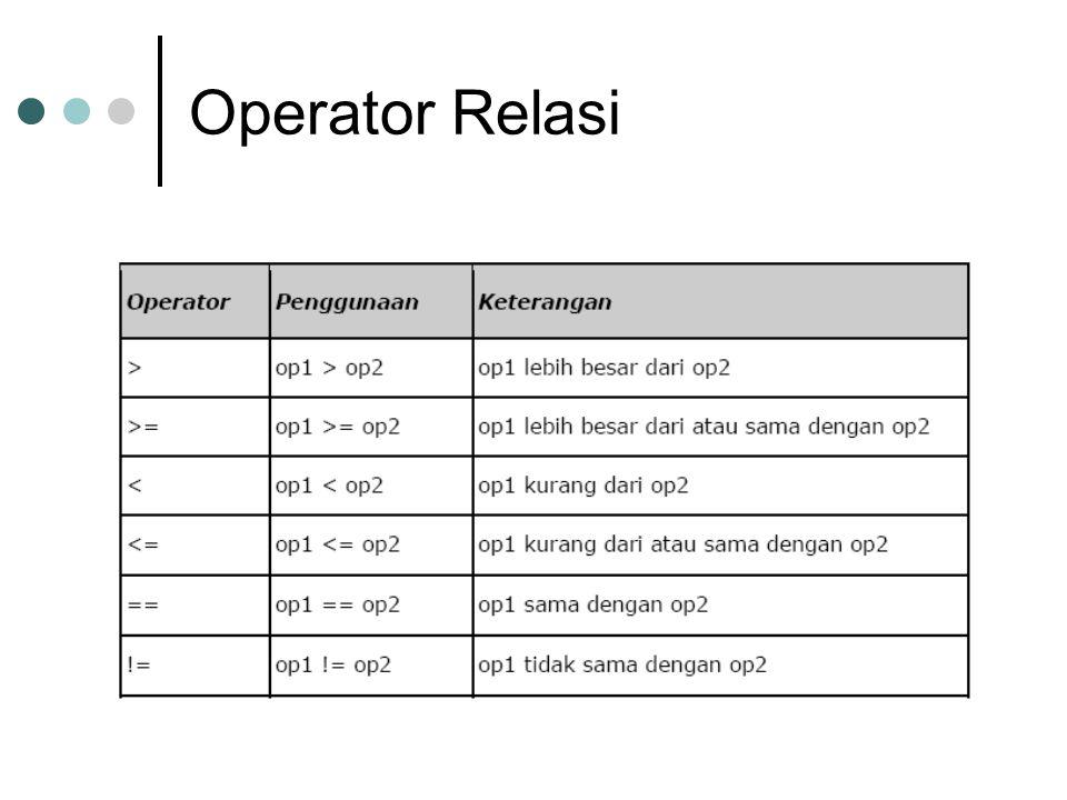 Operator Relasi