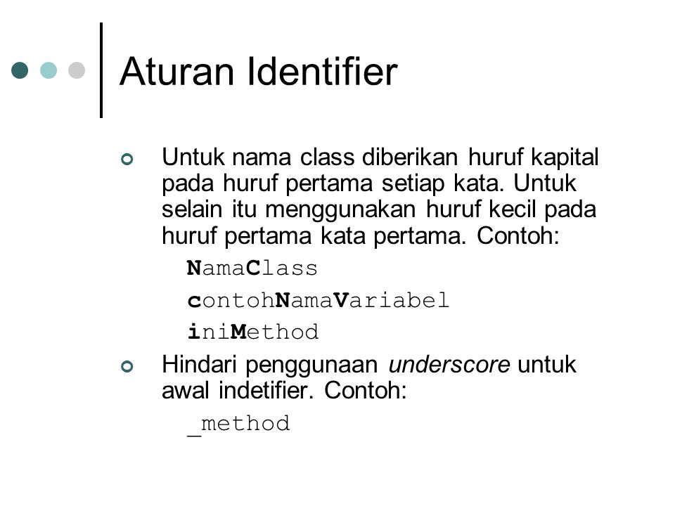 Aturan Identifier