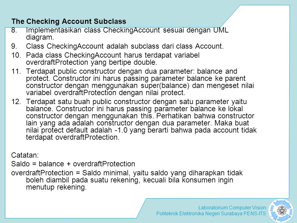 The Checking Account Subclass