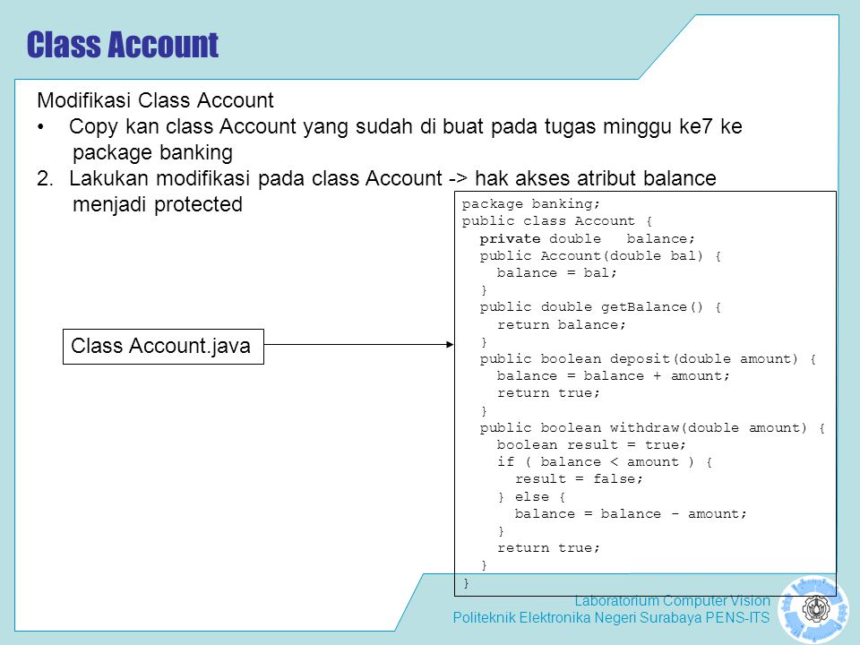 Class Account Modifikasi Class Account