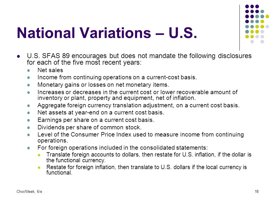 National Variations – U.S.