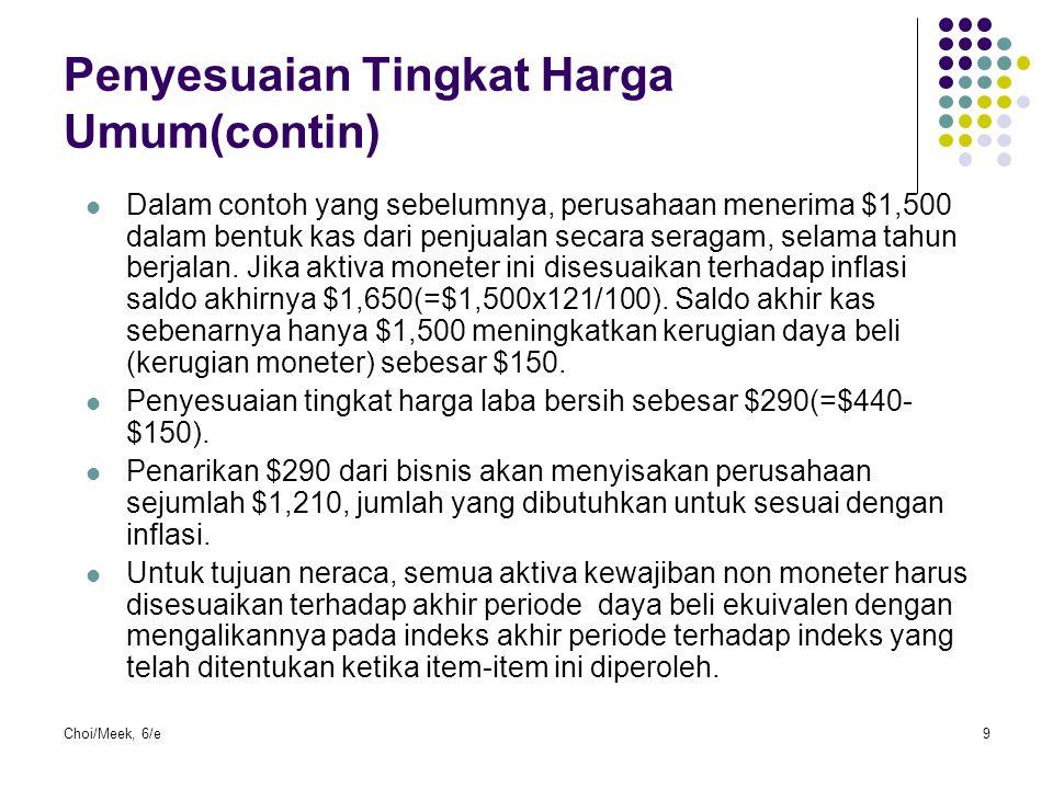 Penyesuaian Tingkat Harga Umum(contin)