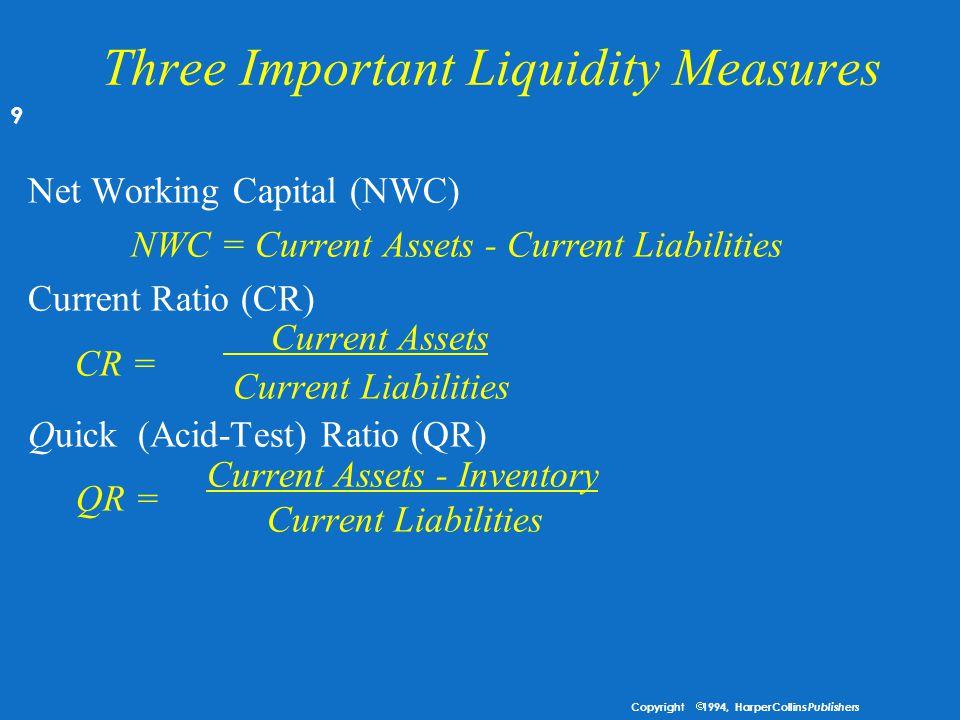 Three Important Liquidity Measures