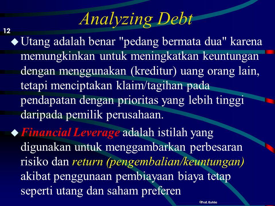 Analyzing Debt 12.