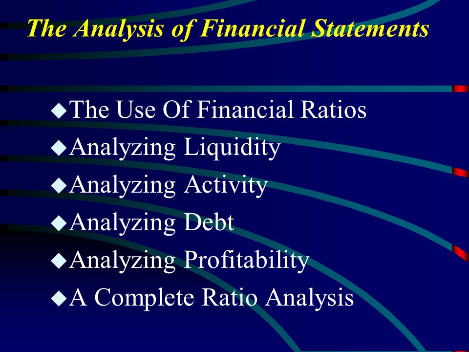 the analysis and use of financial Ratio analysis is primarily used to compare a company's financial figures over a period of time, a method sometimes called trend analysis through trend analysis, you can identify trends, good and bad, and adjust your business practices accordingly.