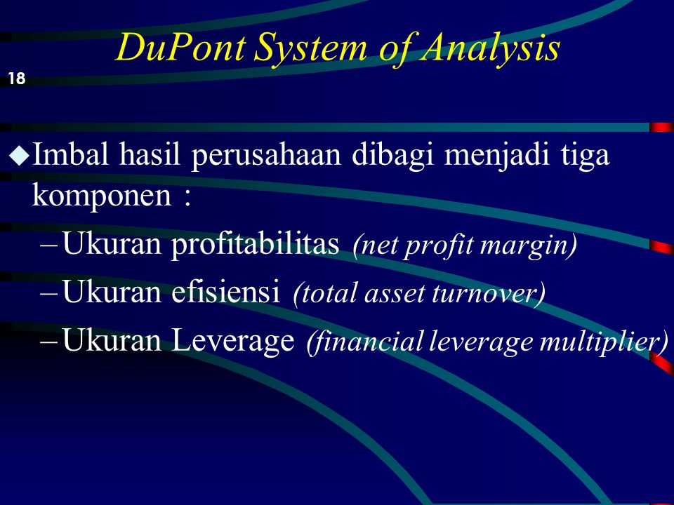 DuPont System of Analysis