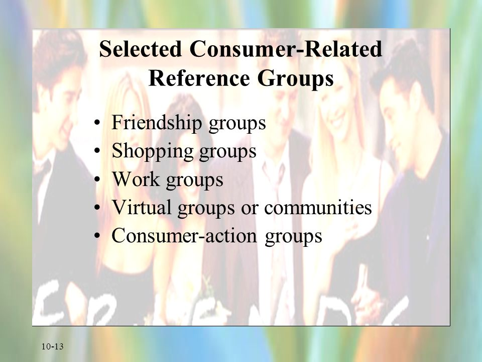Selected Consumer-Related Reference Groups