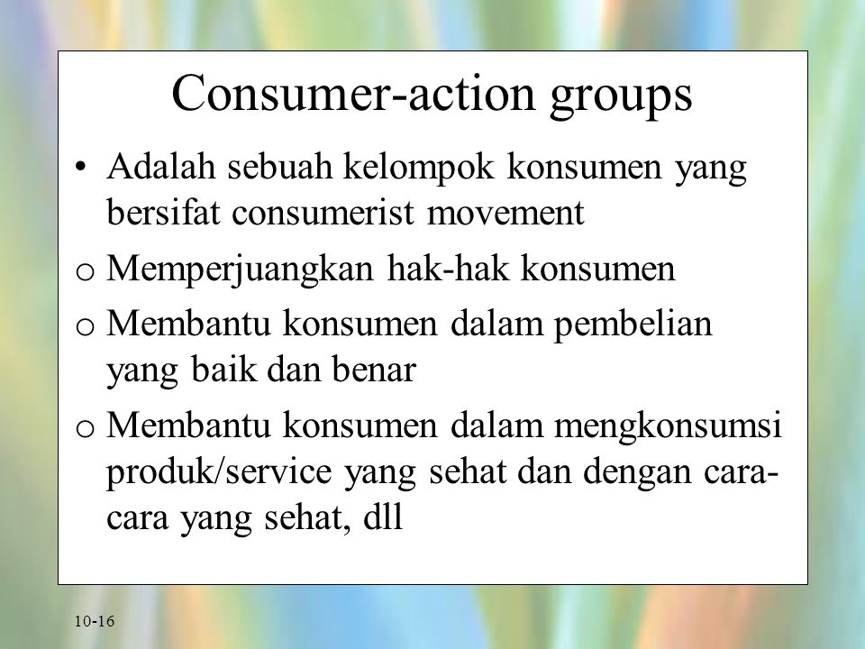 Consumer-action groups