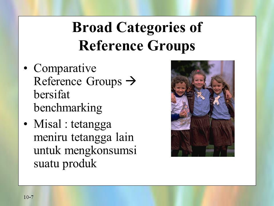 Broad Categories of Reference Groups