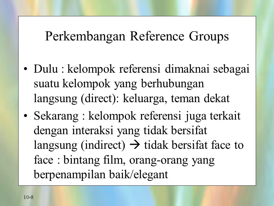 Perkembangan Reference Groups