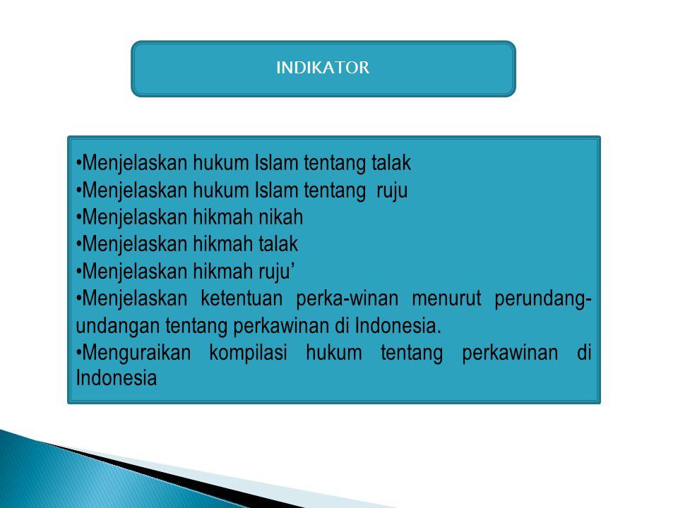 Menjelaskan hukum Islam tentang talak