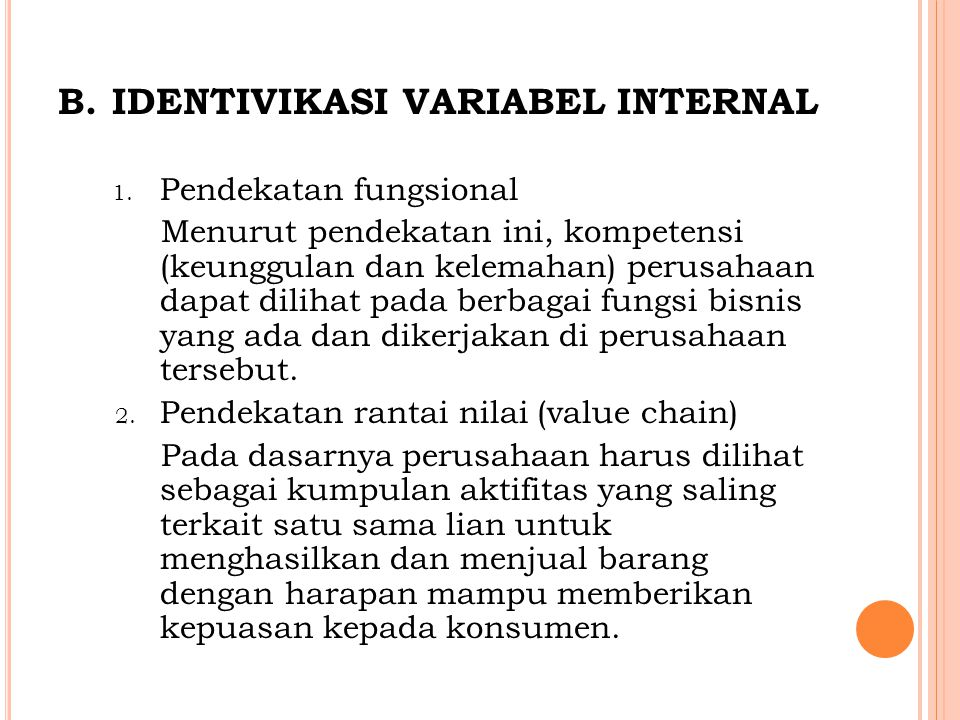 IDENTIVIKASI VARIABEL INTERNAL