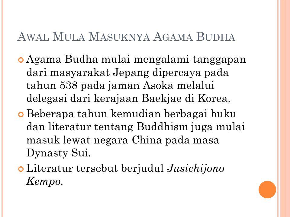 Awal Mula Masuknya Agama Budha