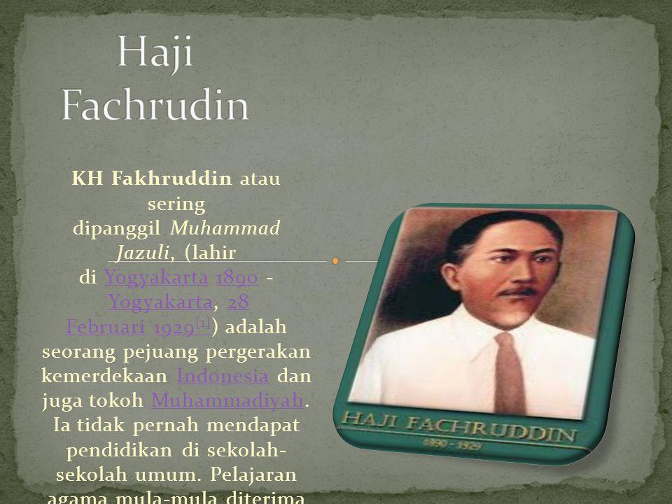 Haji Fachrudin