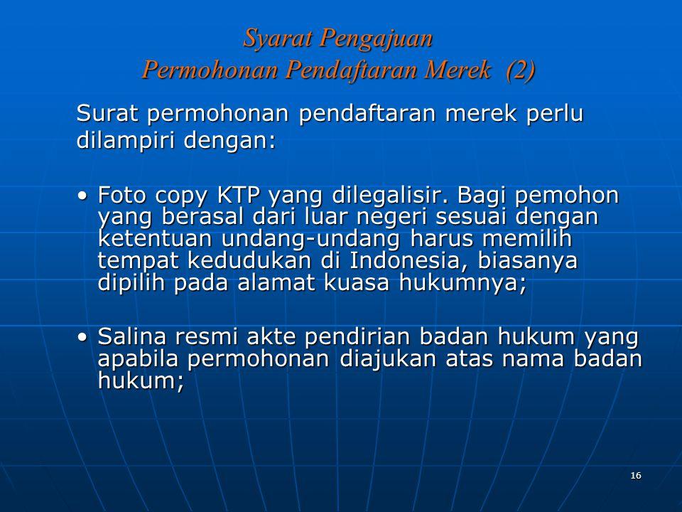Syarat Pengajuan Permohonan Pendaftaran Merek (2)