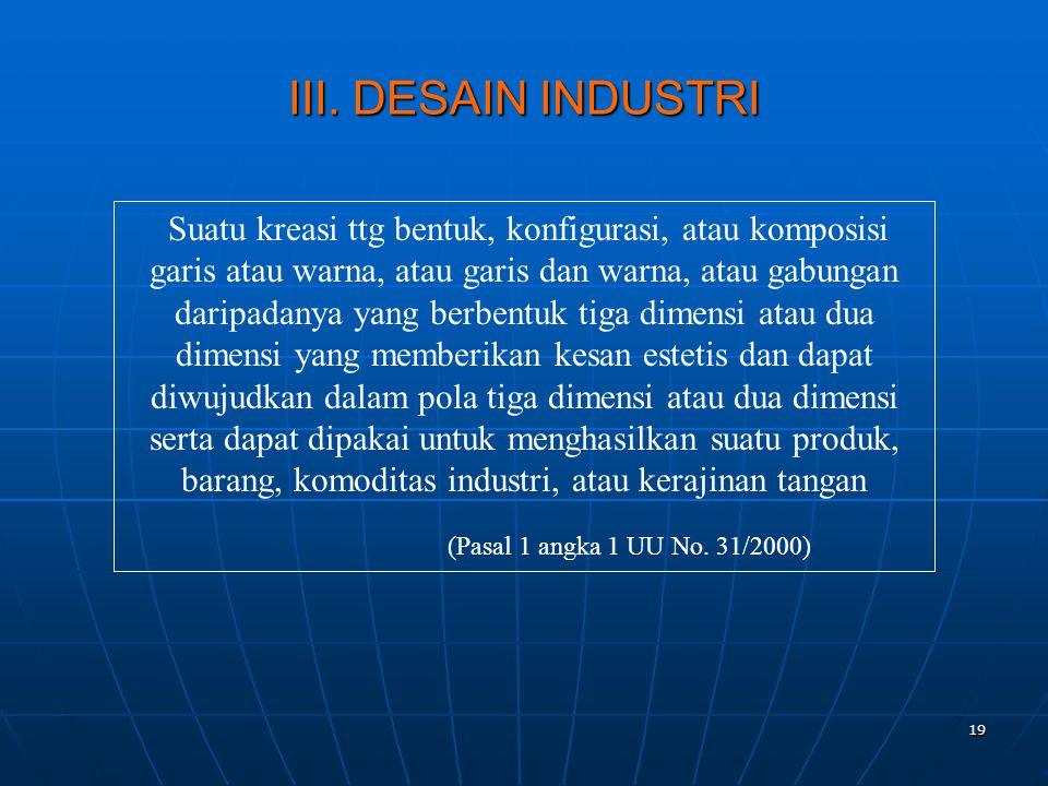 III. DESAIN INDUSTRI