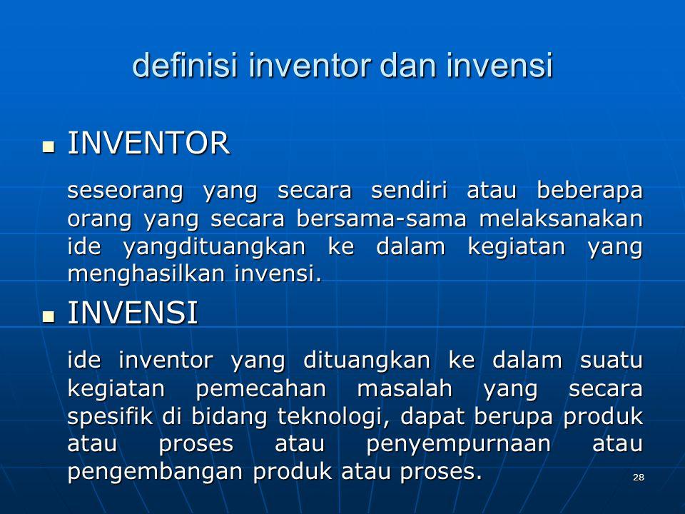 definisi inventor dan invensi