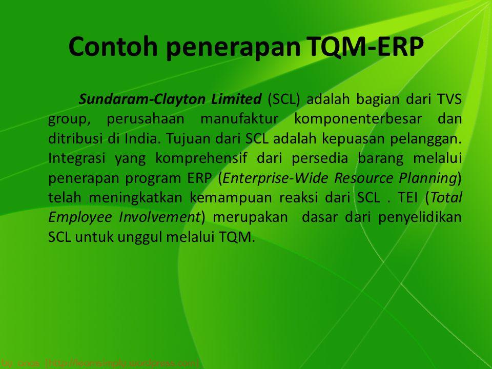 Contoh penerapan TQM-ERP