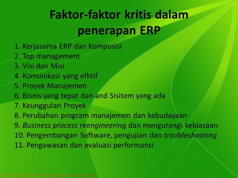 Faktor-faktor kritis dalam penerapan ERP