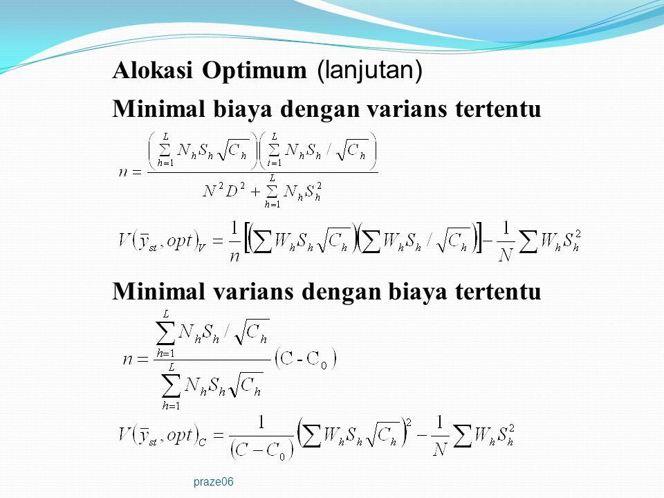 Alokasi Optimum (lanjutan)