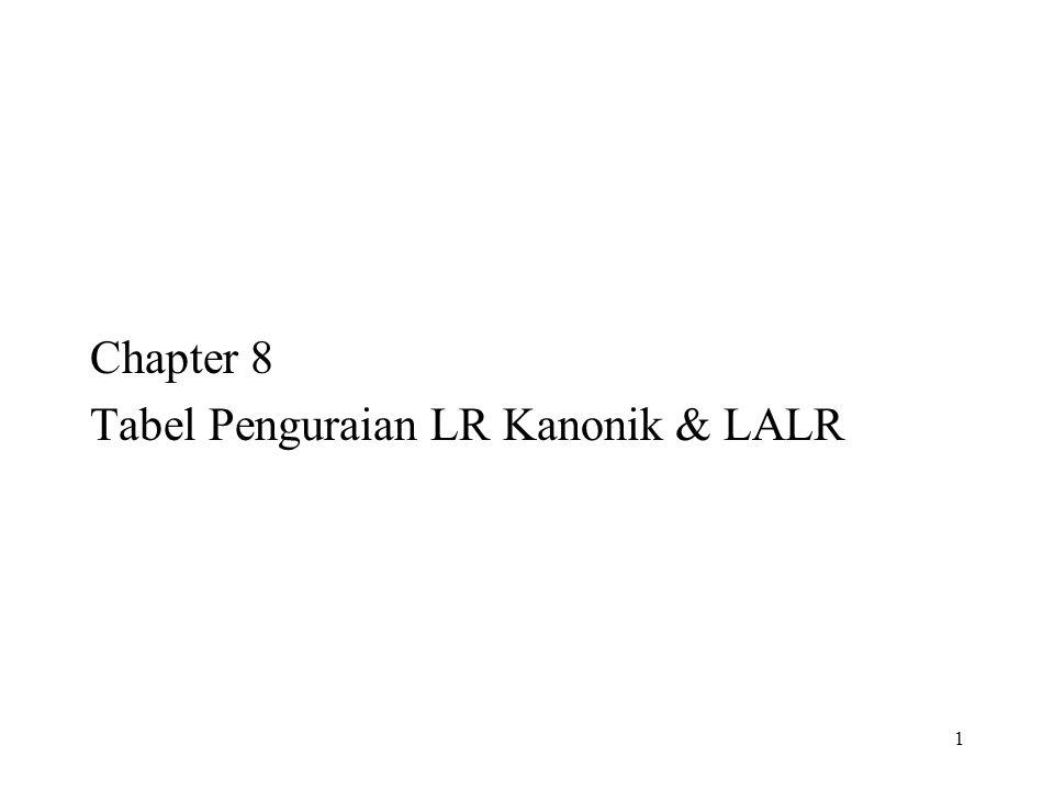 Chapter 8 Tabel Penguraian LR Kanonik & LALR