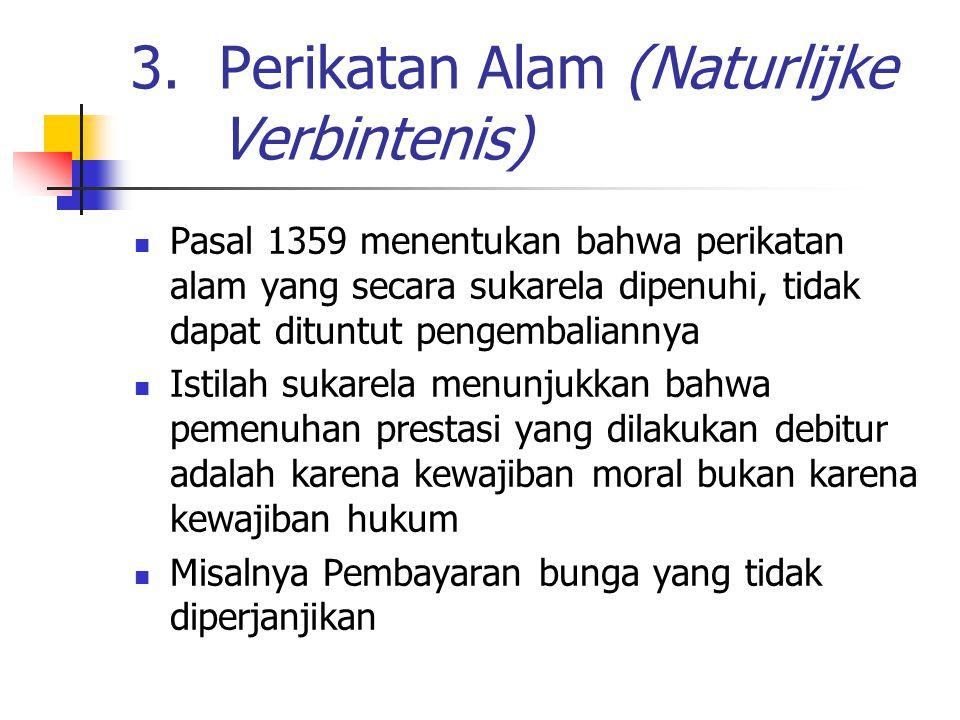 Perikatan Alam (Naturlijke Verbintenis)