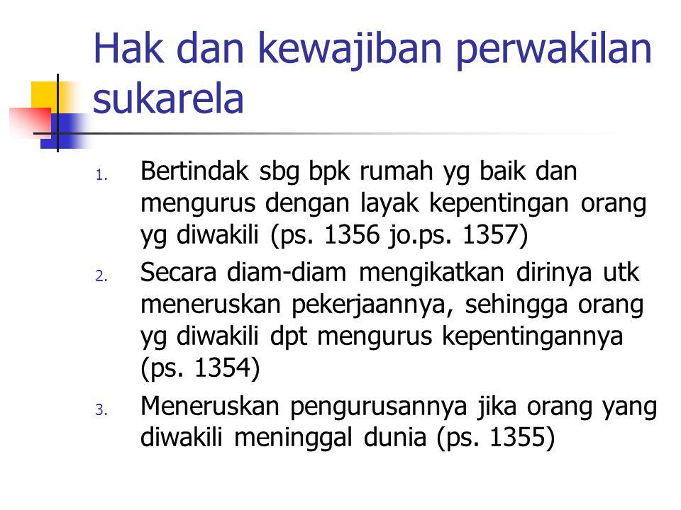 Hak dan kewajiban perwakilan sukarela