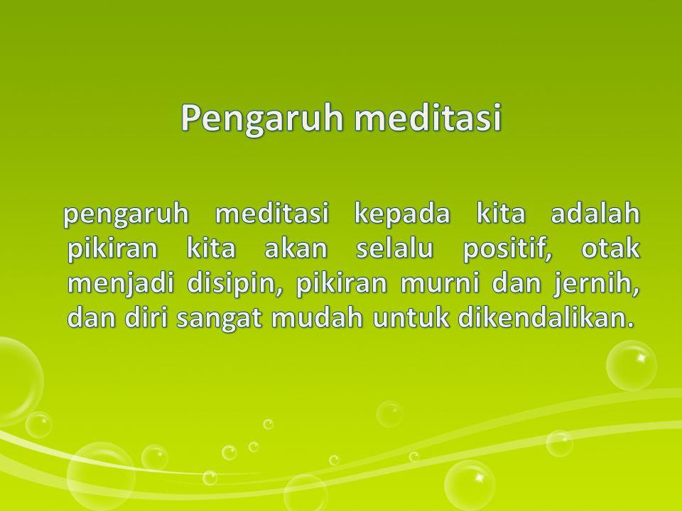 Pengaruh meditasi