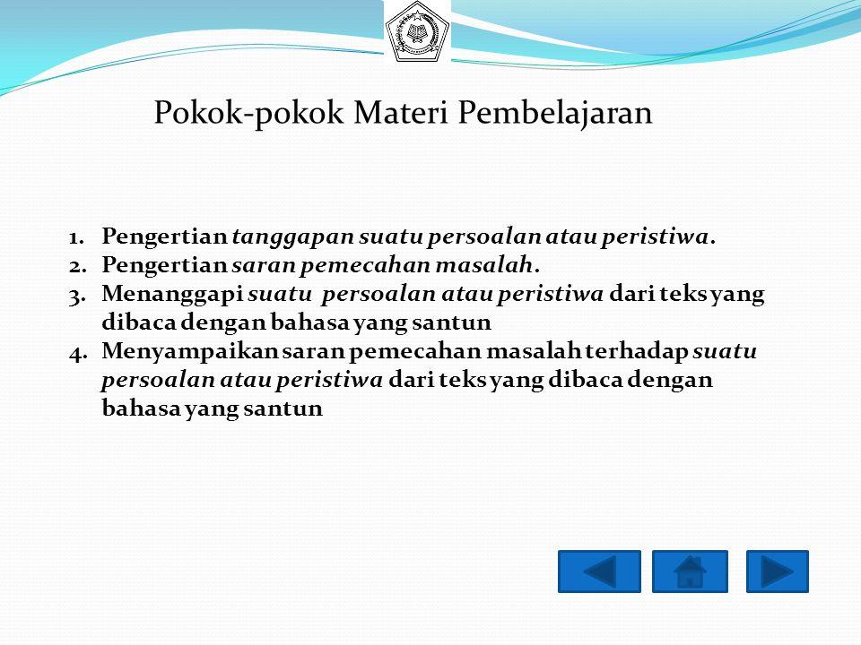 Pokok-pokok Materi Pembelajaran