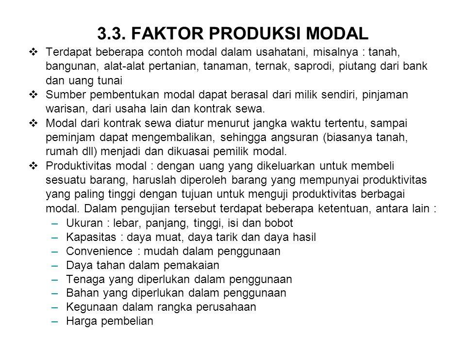 3.3. FAKTOR PRODUKSI MODAL