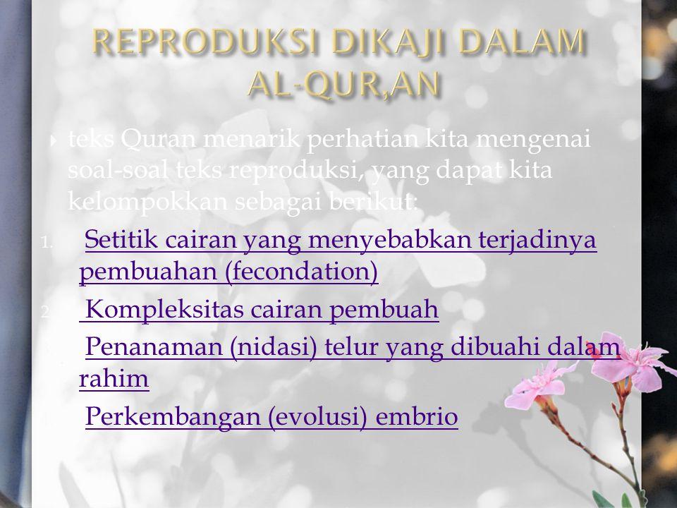 REPRODUKSI DIKAJI DALAM AL-QUR,AN