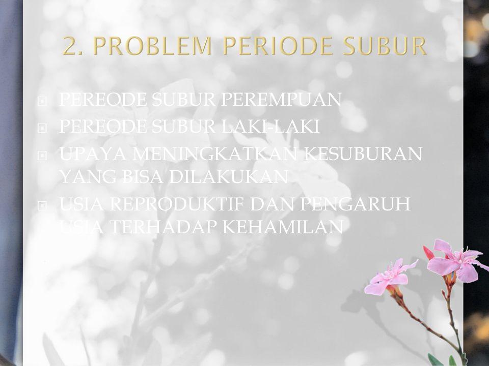 2. PROBLEM PERIODE SUBUR PEREODE SUBUR PEREMPUAN