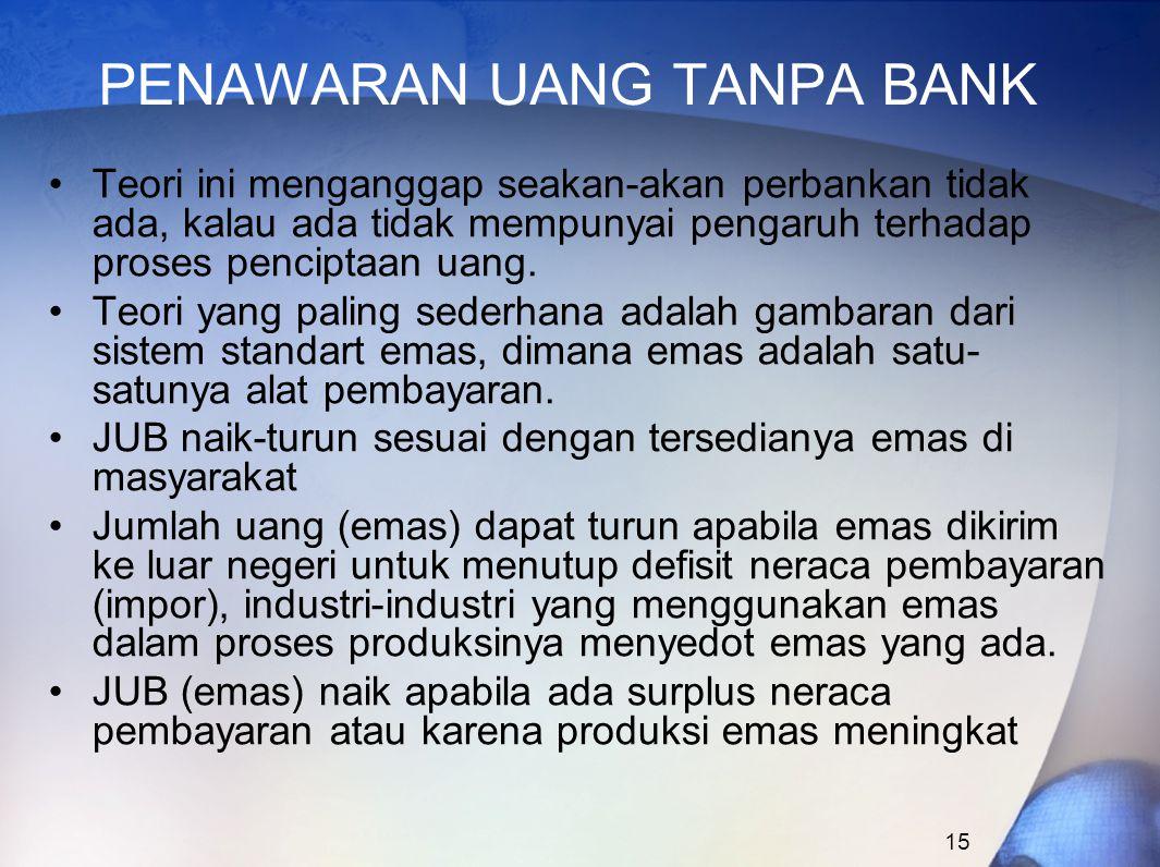 PENAWARAN UANG TANPA BANK