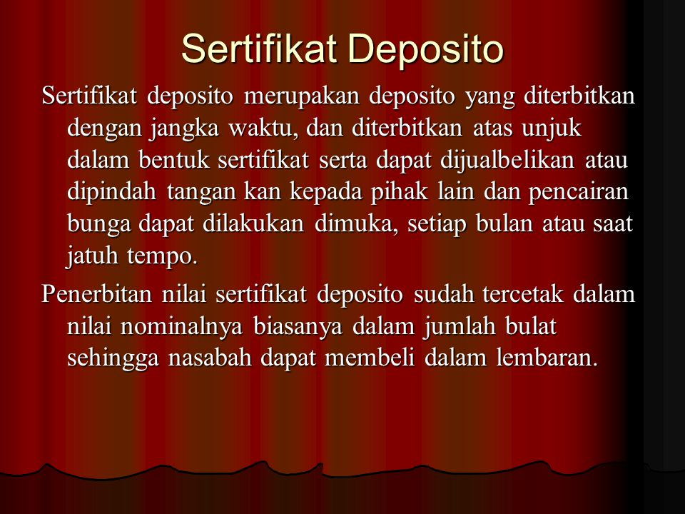 Sertifikat Deposito